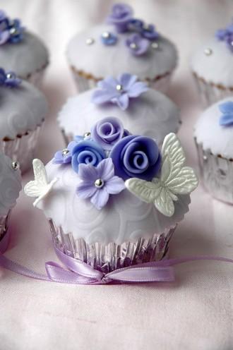 Cupcake Blue Serenity Un Monde Confetti