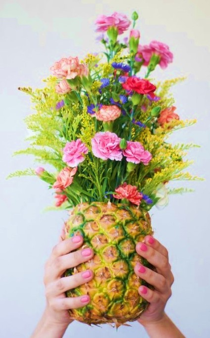 Vase Ananas Mariage Un Monde Confetti